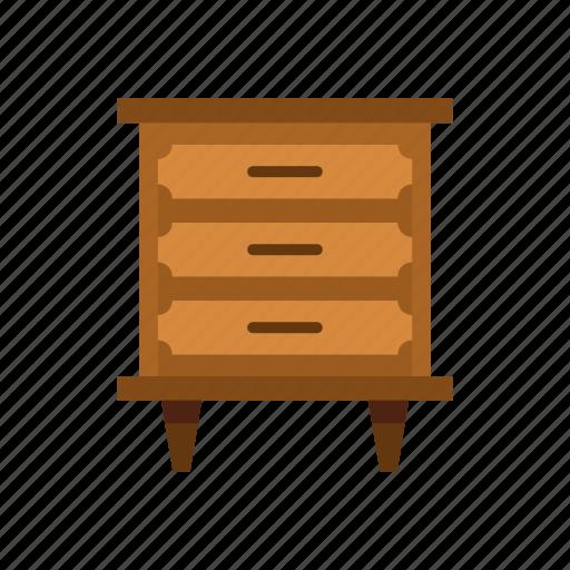 chest, drawer, furniture, handle, home, interior, storage icon
