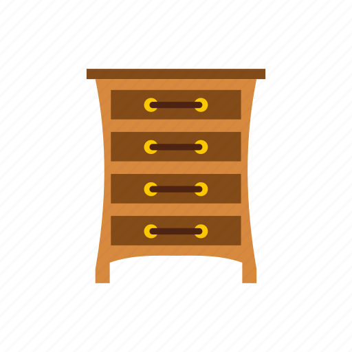 bedroom, cabinet, chest, drawers, furniture, home, interior icon