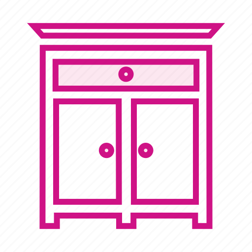 book shelf, cupboard, furniture, kitchen, showcase icon