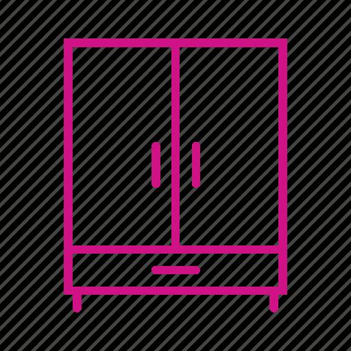 bureau, cabinet, closet, cupboard, furniture, wadrobe icon