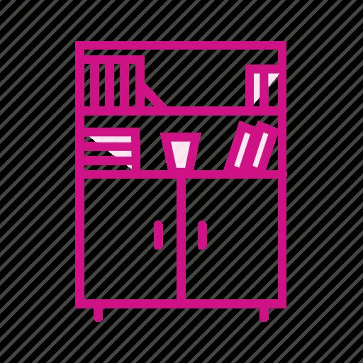 book shelf, cupboard, furniture, showcase icon