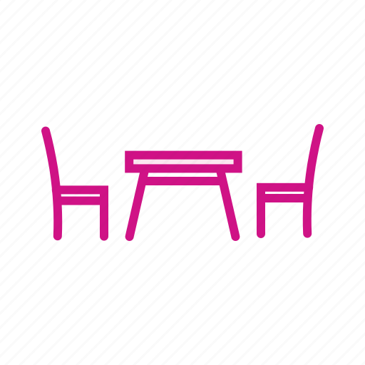 chair, furniture, restaurant, table, table chair icon