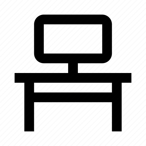 belongings, computer, desk, furniture, home, households, interior icon