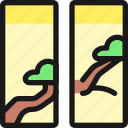 asian, interior, windows