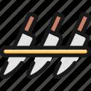 kitchen, knife, set
