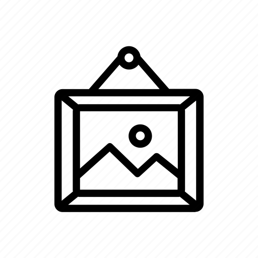 frame, furniture, home, living, picture icon