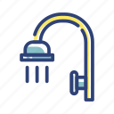 bath, equipment, furniture, room, shower, toilet, water icon