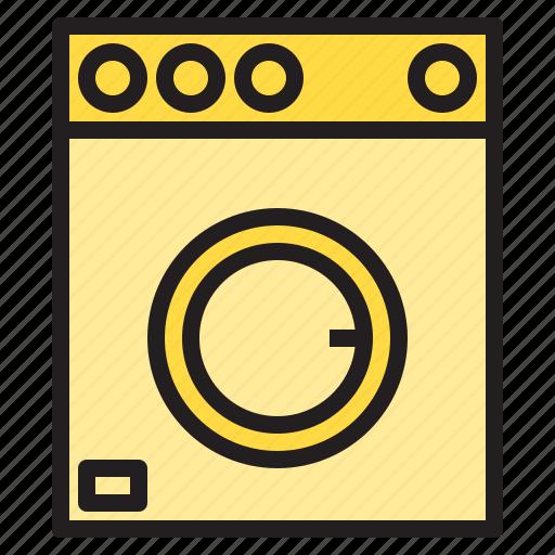 clean, design, furniture, machine, splendid, tidy, washing icon