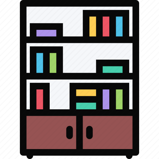 bookcase, decor, furniture, home, interior, plumbing icon
