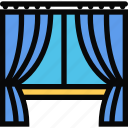 decor, drapes, furniture, home, interior, plumbing icon