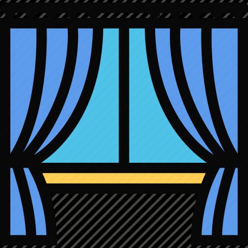 decor, drapes, furniture, home, interior, plumbing icon