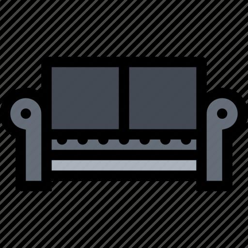 decor, furniture, home, interior, plumbing, sofa icon