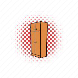 bedroom, comics, cupboard, decoration, drawer, furniture, open icon