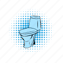 bathroom, bowl, clean, comics, lavatory, pan, toilet icon