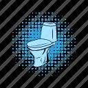 bathroom, bowl, clean, comics, lavatory, pan, toilet