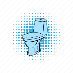 bathroom, bowl, clean, comics, lavatory, pan, toilet icon