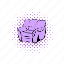 armchair, comics, couch, decoration, design, furniture, seat icon