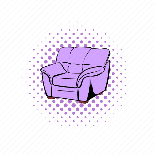 armchair, comics, couch, decoration, design, furniture, seat icon