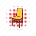 chair, classic, comics, kitchen, pew, stool, wood icon