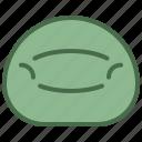 bag, bean, furniture, household icon