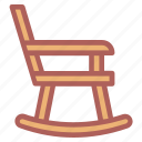 furniture, household, rocking chair icon