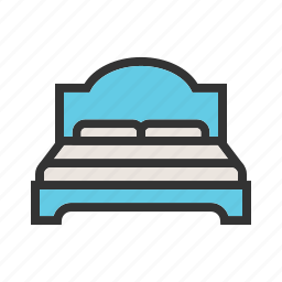 apartment, bed, bedroom, double, furniture, modern, room icon