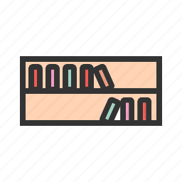 book, books, bookshelf, knowledge, library, shelf, study icon