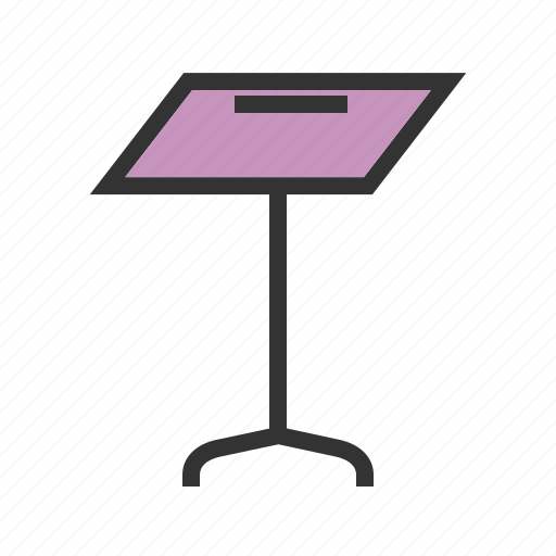 display, holder, information, sign, stand, table, tent icon