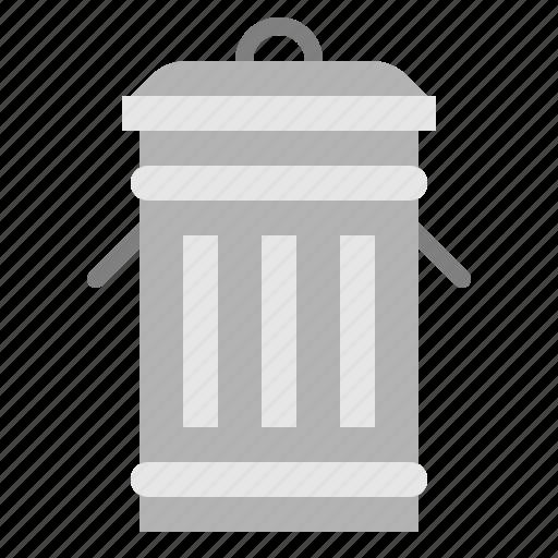 bin, furniture, house, metal, trash, waste icon