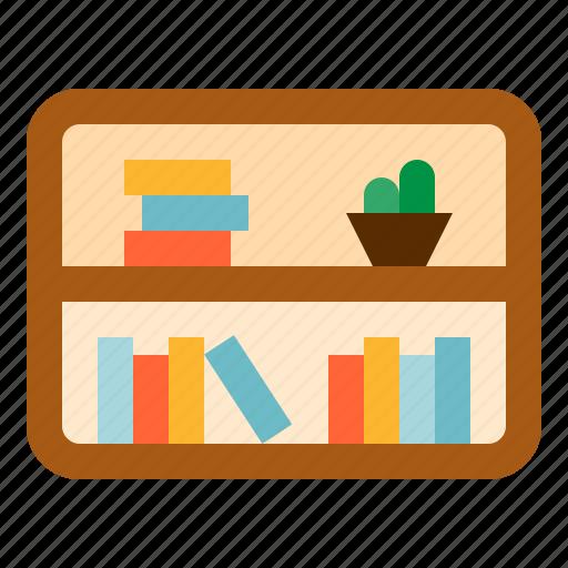 books, bookshelves, furniture, shelves, stack icon