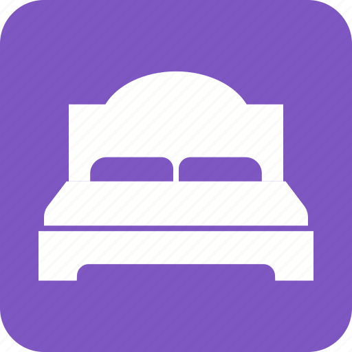bed, bedroom, double, furniture, modern, relaxation, room icon