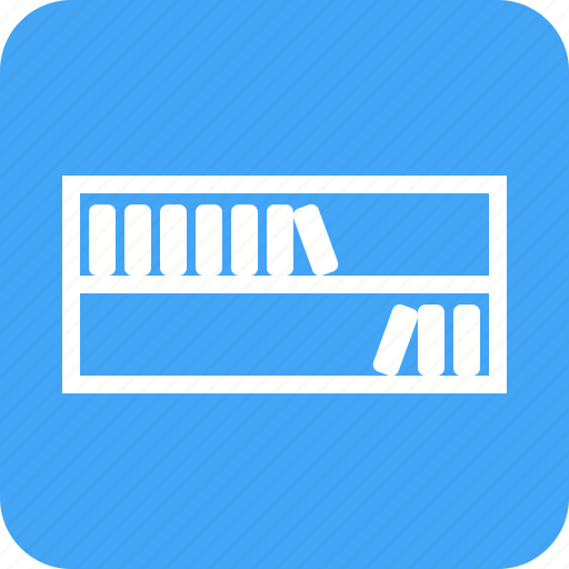 book, books, bookshelf, library, shelf, study, wood icon