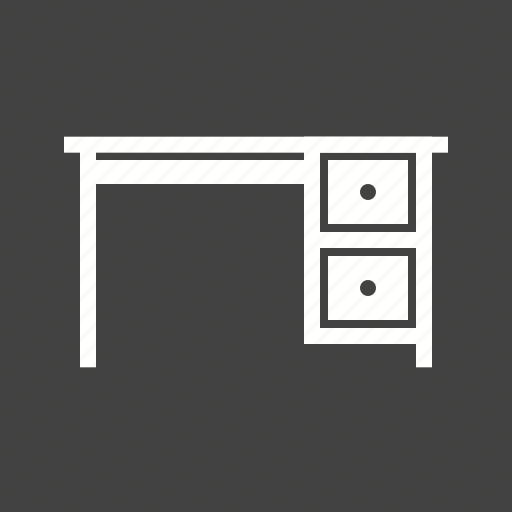 drawer, drawers, library, office, table, working, workstations icon