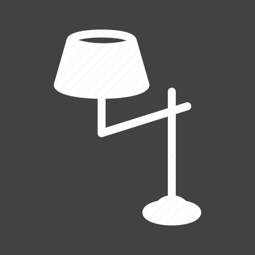 furniture, lamp, miniature, spotlight, stand, studio, white icon