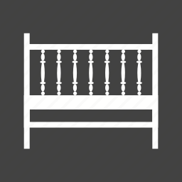 baby, bed, childhood, cot, interior, room, wood icon
