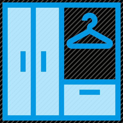cupboard, drawer, furniture, interior, locker icon