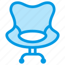 armchair, furniture, interior, leather, office icon