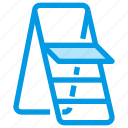 furniture, ladder, stepladder, tools icon