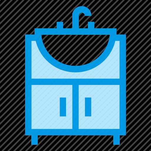 bathroom, furniture, interior, sink, wash icon