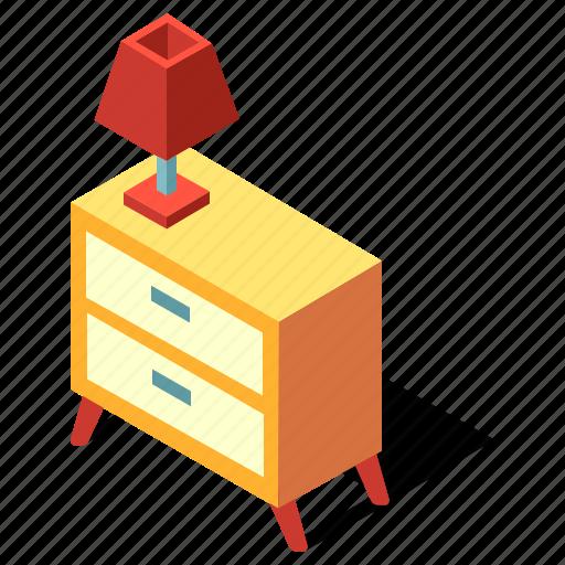 Bedroom, bedside, cabinet, drawer, furniture, interior, table icon - Download on Iconfinder