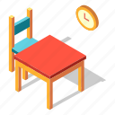 dining, dinner, furniture, interior, isometric, table
