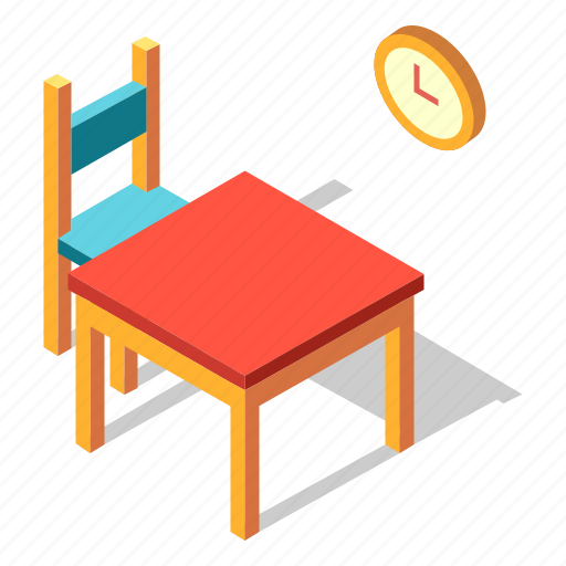 Dining, dinner, furniture, interior, isometric, table icon - Download on Iconfinder