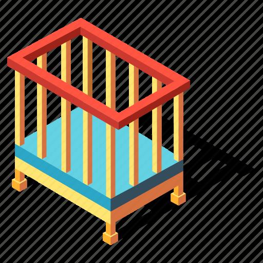 Baby, bed, bedroom, cot, crib, furniture, infant icon - Download on Iconfinder