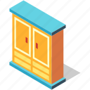 closet, clothes, furniture, interior, isometric, storage, wardrobe