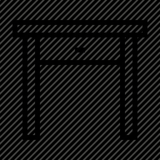 Desk, furniture, office, table, work icon - Download on Iconfinder
