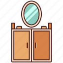 dressing, furniture, home, interior, makeup, mirror, table icon