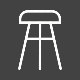 chair, furniture, object, seat, stool, wood, wooden icon