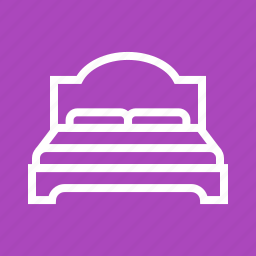 apartment, bed, bedroom, double, modern, relaxation, room icon
