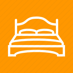 apartment, bed, bedroom, double, furniture, relaxation, room icon