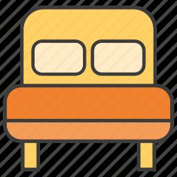 bed, bed room, decor, furniture, home decor icon